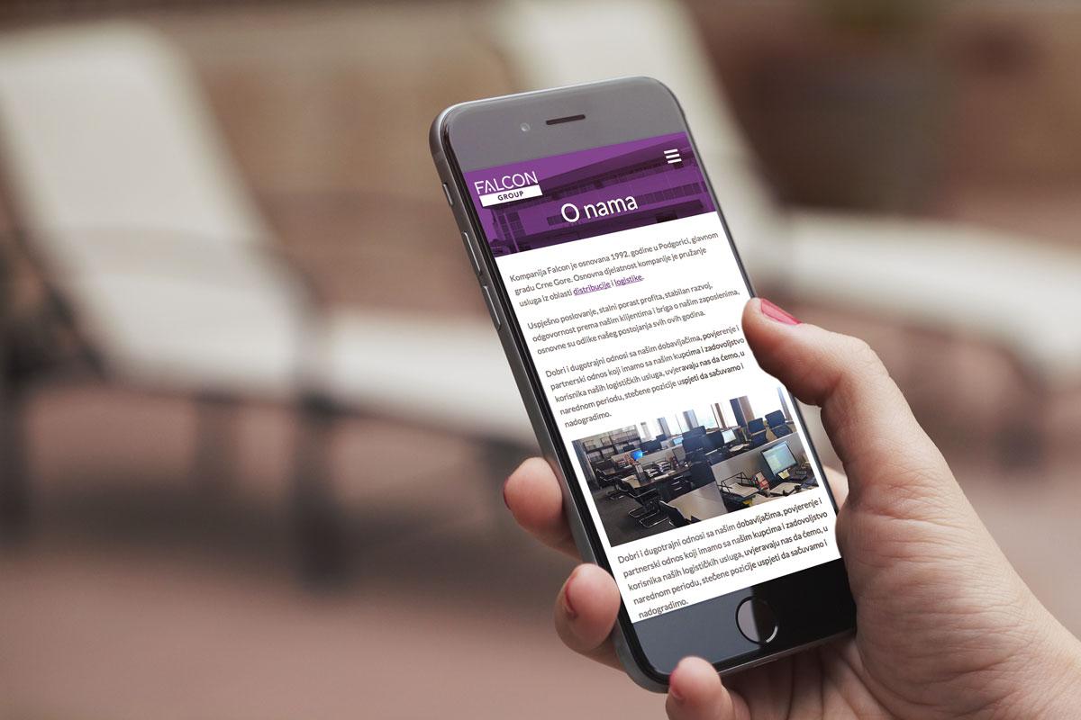 New redesigned web presentation - Falcon Group Podgorica